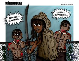 The Walking Dead - Michonne by michaelheuvel