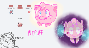Pokemon Fusion - Mr. Puff by CrustCringle