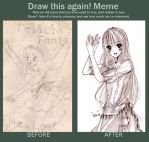 Before after meme: Traditional by Furihime