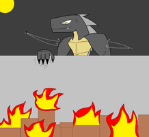 Attack on Godzilla by 115spartan