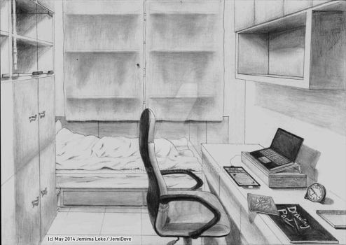May2014 Graphite pencils (Bedroom perspective) by JemiDove