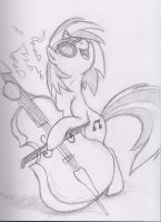 Vinyl Scratch Tries Cello by Utahraptorz-Poniez