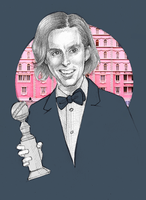 Wes Anderson Sketch by staroksi
