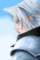 Sephiroth in thought by DJesterS
