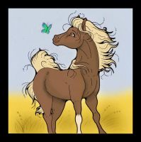 Horse and Butterfly by Pianochick66