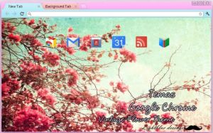 Tema google chrome: Vintage Flower by Jazminswag-Editions
