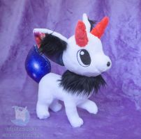 White Galaxy Horned Fox (For Sale) by dollphinwing