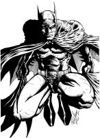 Batman inked by RudyVasquez