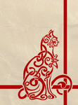 Celtic Knot Inspired Cat by labrattish