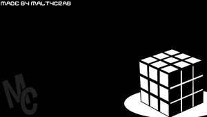 Rubik's Cube Background (Black and White) by MaltyCrab