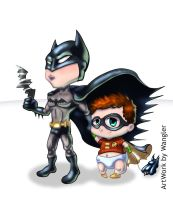 Chibi Batman e Robin by Wangler