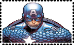 Marvel Now! Captain America Stamp (Large.) by WOLFBLADE111