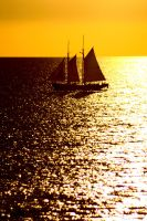 Lugger at sunset by wildplaces