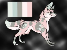 Color Pallet Wolf adopt 2 CLOSED by BrokenWingsOfLight