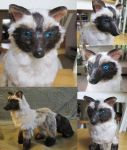 Siamese Fox OOAK Poseable Art Doll by Lufirel