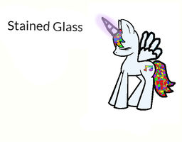 Stained Glass ( my mlp oc) by MaddiTheHedgieHog