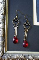 Victorian Key Earrings by MonsterBrandCrafts
