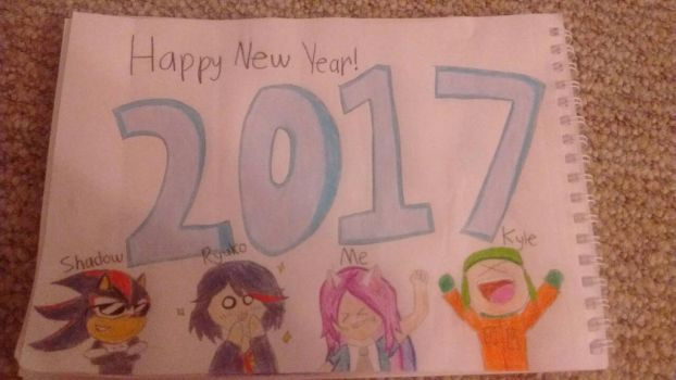 Happy New Year 2017! by StarkittyTheSonicFan