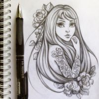 Roses sketch by murkinkot