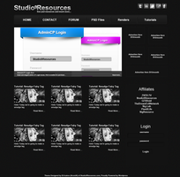 Tutorial Site Free PSD Design by KRONTM