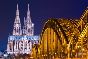 Cologne Cathedral and Hohenzollern Bridge by NicoW92