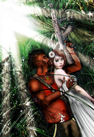 The Rains Of Rook (Liza x Vaas) Commission by Almesiva-Moonshadow