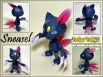 Sneasel Papercraft by Skeleman