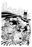 Batman and the Demon inks by Irontree1973