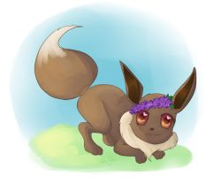 Playful Eevee by Gokai-Chibi