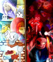 Undertale - The SOUL is Yours - FIGHT or SAVE?! by Pokefuturemarsh