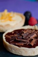 Chocolate Ganache and Lemon Tartlets by bfrena