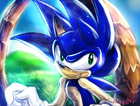Sonic the Hedgehog by Ashentar