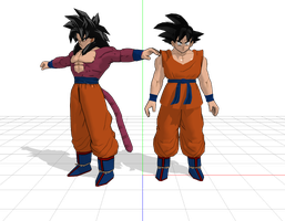 Son Goku mmd download (needs better rigging ) by ultimate44