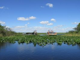 Airboats on the water by Sorath-Rising