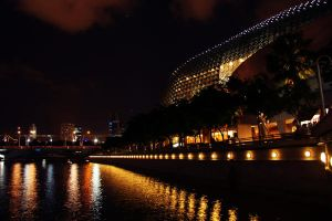 Esplanade: Night View by rorgile90870