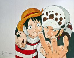 Luffy and Law by ViivaVanity