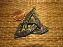 Beaded Triquetra by Dragonwooddesigns