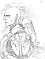 Master Chief sketch. by theStranger1999