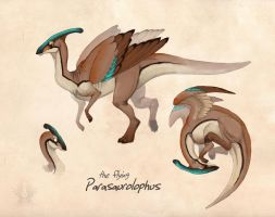 parasaurolophus Sketches by Bueshang