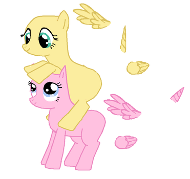 Fluttershy and Pinkie Pie Base by RainbowDash22100