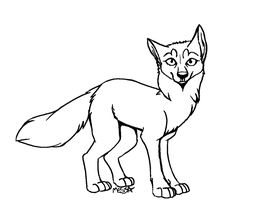 Free Fox Lineart :) by Messa-Dimension