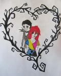 William and Grell in Nightmare Before Christmas by lightningstrike2419