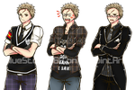 VN Sprites: uptight grumpy loser by BlueStorm-Studio
