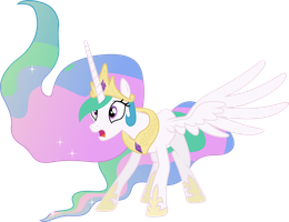 Startled Princess Celestia by 90Sigma