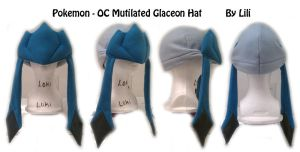 OC Mutilated Glaceon Hat by LiliNeko