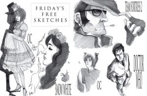Friday's Free Sketches 01.07 by FrenchBrioche
