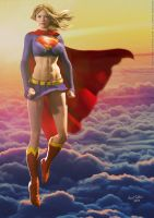 Supergirl Sunset II by DevilishlyCreative