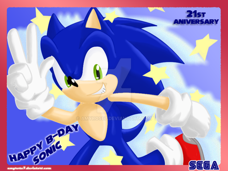 Happy B-Day Sonic!! 21ST by amyrose7