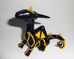 Tron Dragon Sculpture by ByToothAndClaw