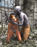 Zombie At The Gate by LithographicDan